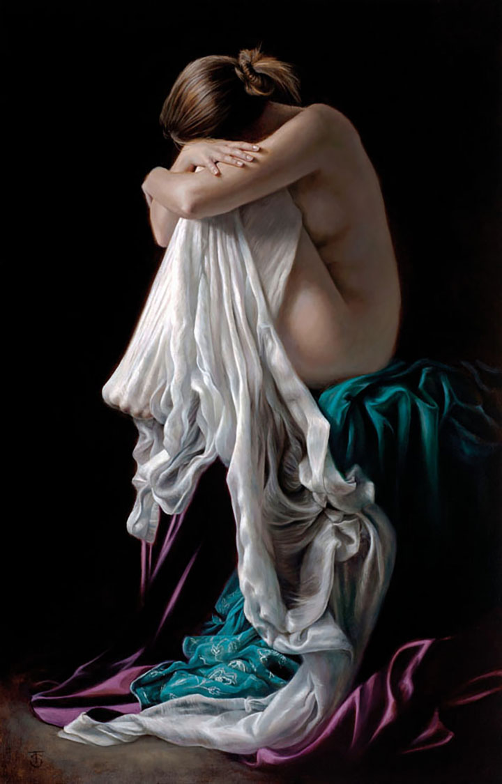 """Entwined Oil on linen, 18"""" x 28"""", sold."""