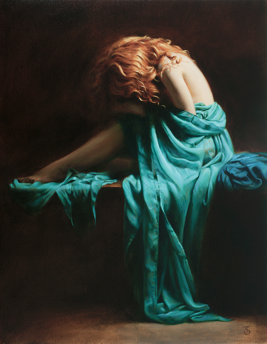 """Embrace Oil on linen, 14"""" x 18"""", Sold."""