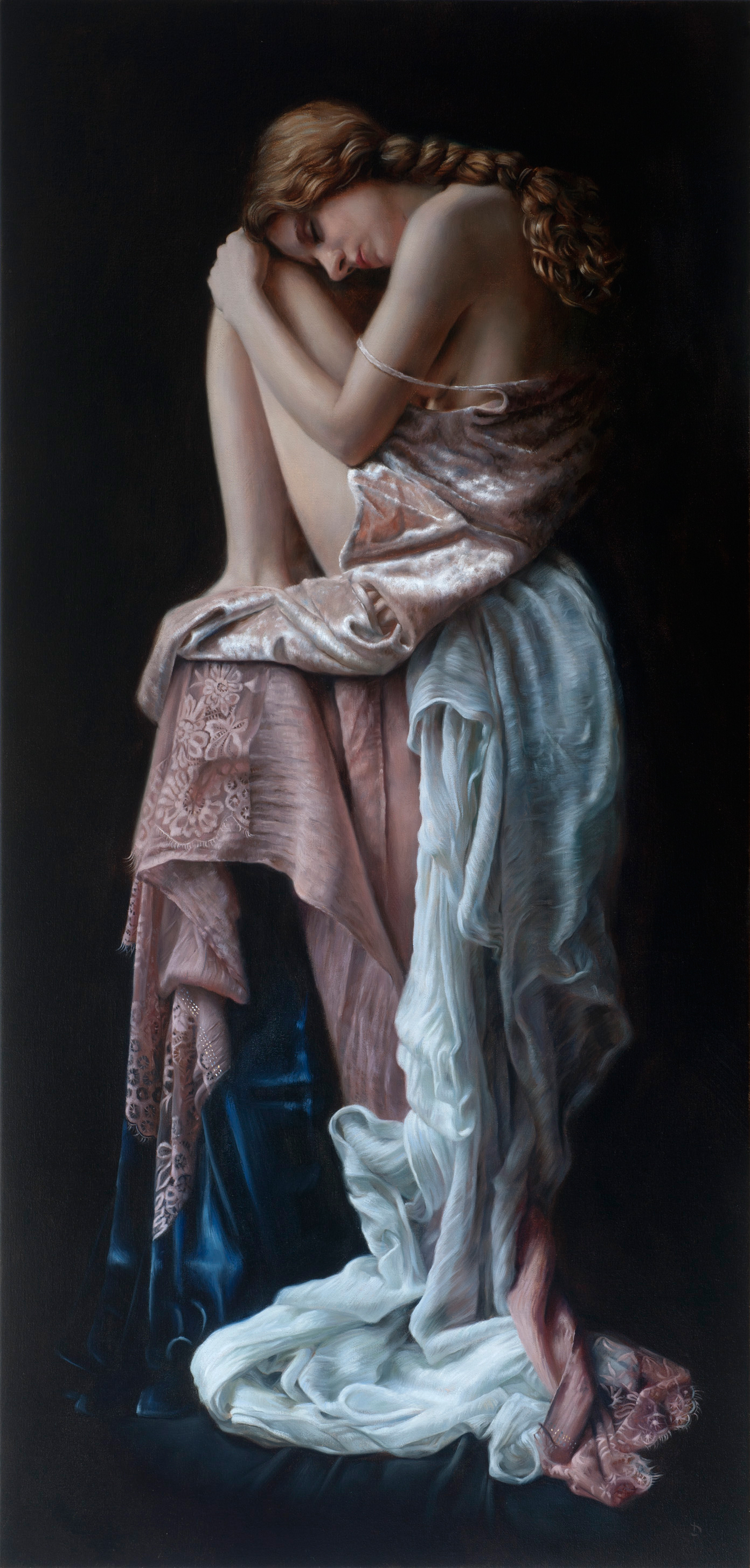 "Breathe, oil on linen, 46"" x 22"", Private Collection.    I'm excited to say that my painting, 'Breathe,' which was awarded Honourable Mention and has also recently sold, will be included in the upcoming 13th International ARC Salon Exhibition!  The exhibition will consist of 89 Contemporary Realist works selected from over an original 3,750 entries from 69 countries and is the most prestigious realist art competition in the Americas and perhaps the world.  The ARC Salon Exhibition will be on view at the Salmagundi Club, 47 Fifth Ave., New York, NY from September 21st—October 2nd, 2018 with the public opening event on Saturday, September 22nd from 11am to 3pm. Entry is free. The exhibition will then travel to Sotheby's, Los Angeles where it will be on view from December 4th—December 13th, 2018 with the opening reception on December 4th from 6pm to 8pm. The show will then travel to the MEAM Museum, Barcelona, Spain from February 8th—March 31st, 2019, with the opening event and award ceremony starting at 7pm on February 8th. To learn more, go to  https://www.artrenewal.org/13thARCSalon/Home/Exhibition"