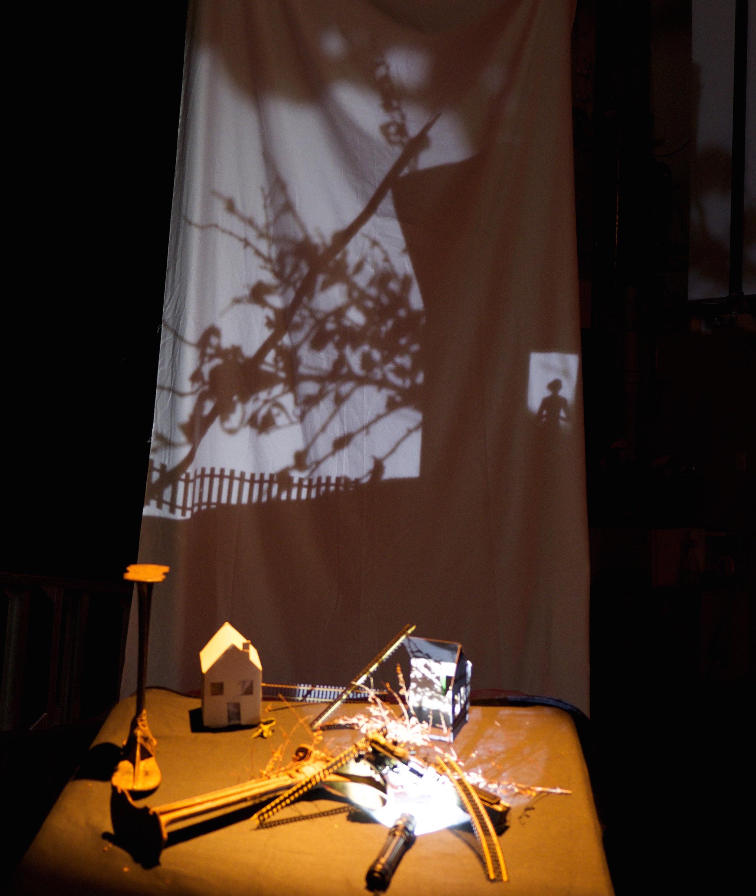 Photo prise lors de la résidence au Cube en préfiguration, décembre 201 7