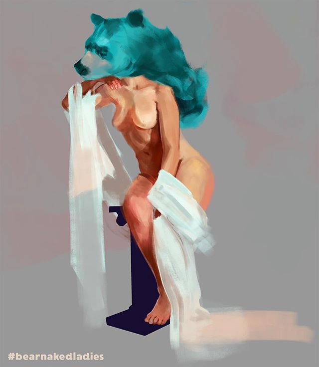Figure study practice work in progress for #bearnakedladies