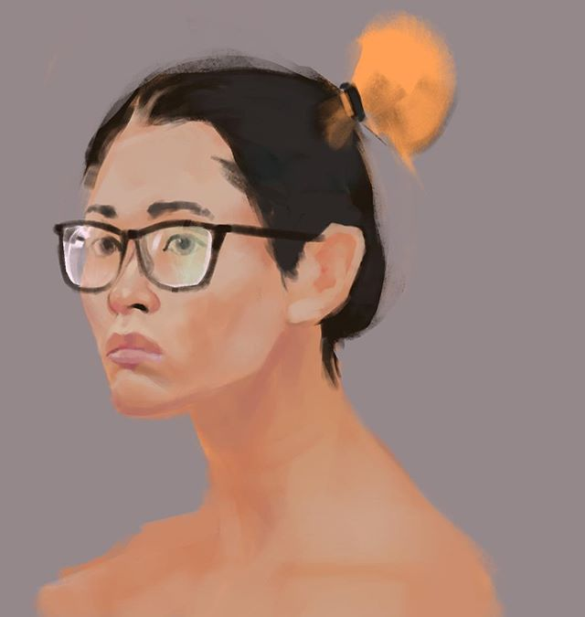 Portrait practice from this mornings stream #portrait #study #painting