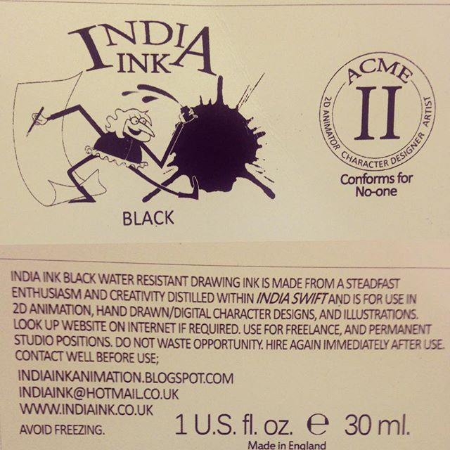 I remember when I left uni and I tried to brand myself as India Ink by making my own ink labels :D