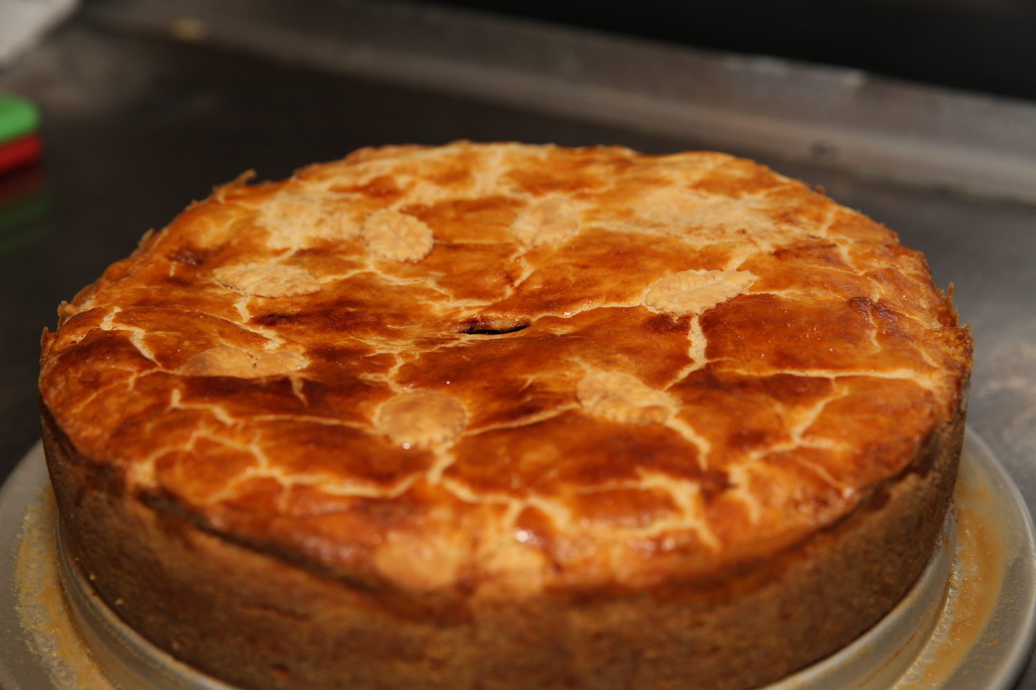 Cake with cracked and browned top.JPG