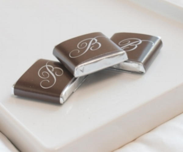 Turndowns - Enhance your guest experience with our signature dark or milk chocolate 6g squares. Choose from our generic stock options or design your own. Contact us for more information and pricing.  Milk Chocolate Casino Coins wrapped in Italian foil are also available,
