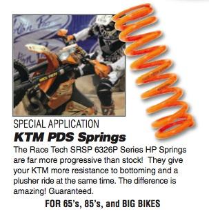KTM Progressive Spring $160