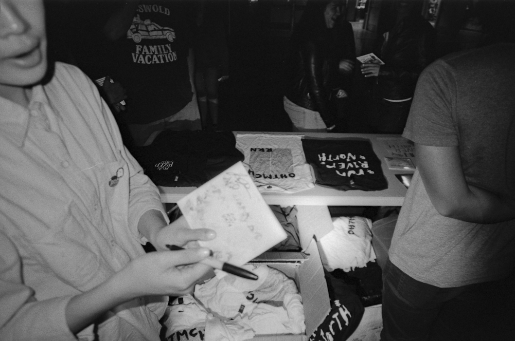 End of the Night Merch Table - 2014
