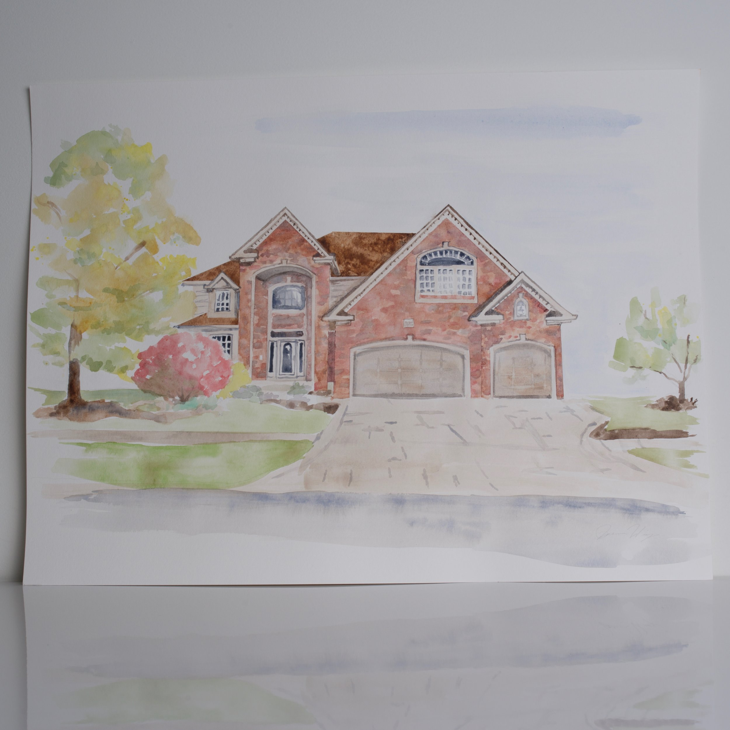 Order a custom watercolor of your home here.