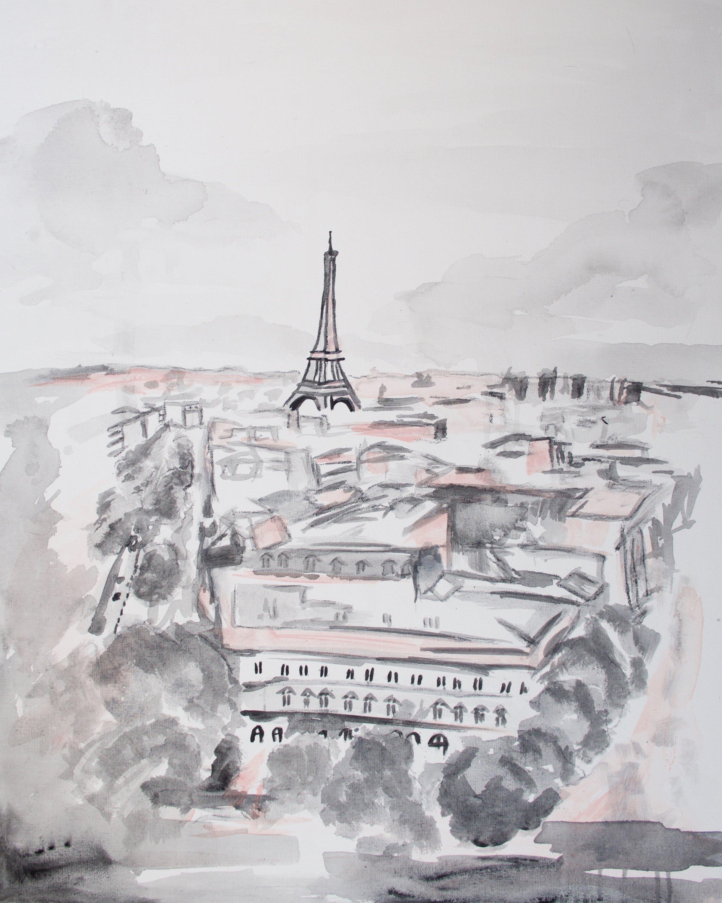 Pink Paris Eiffel Tower, art prints