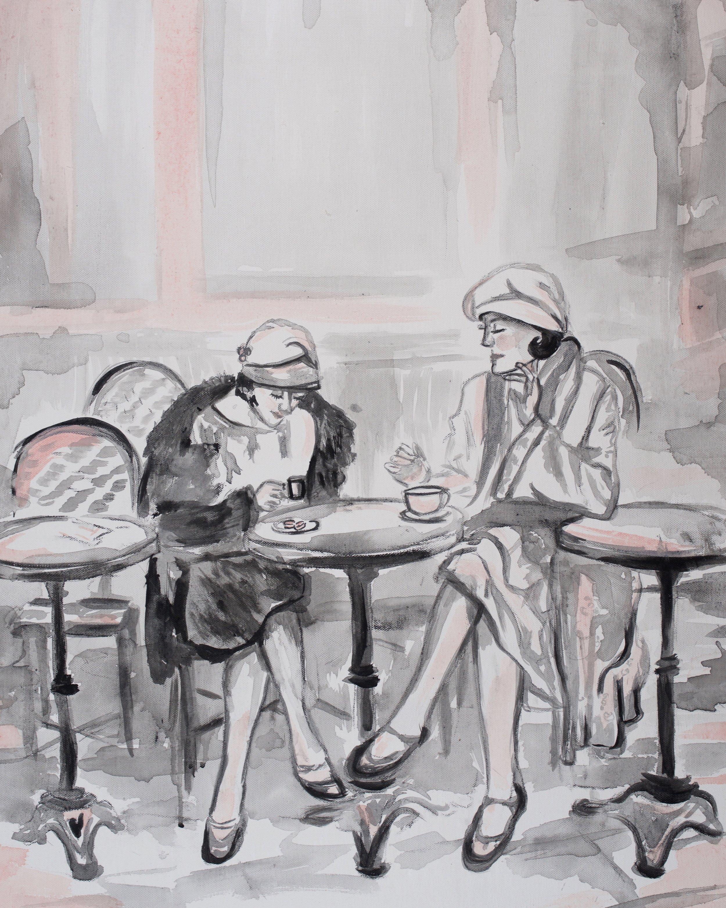 Pink Paris Ladies, art prints