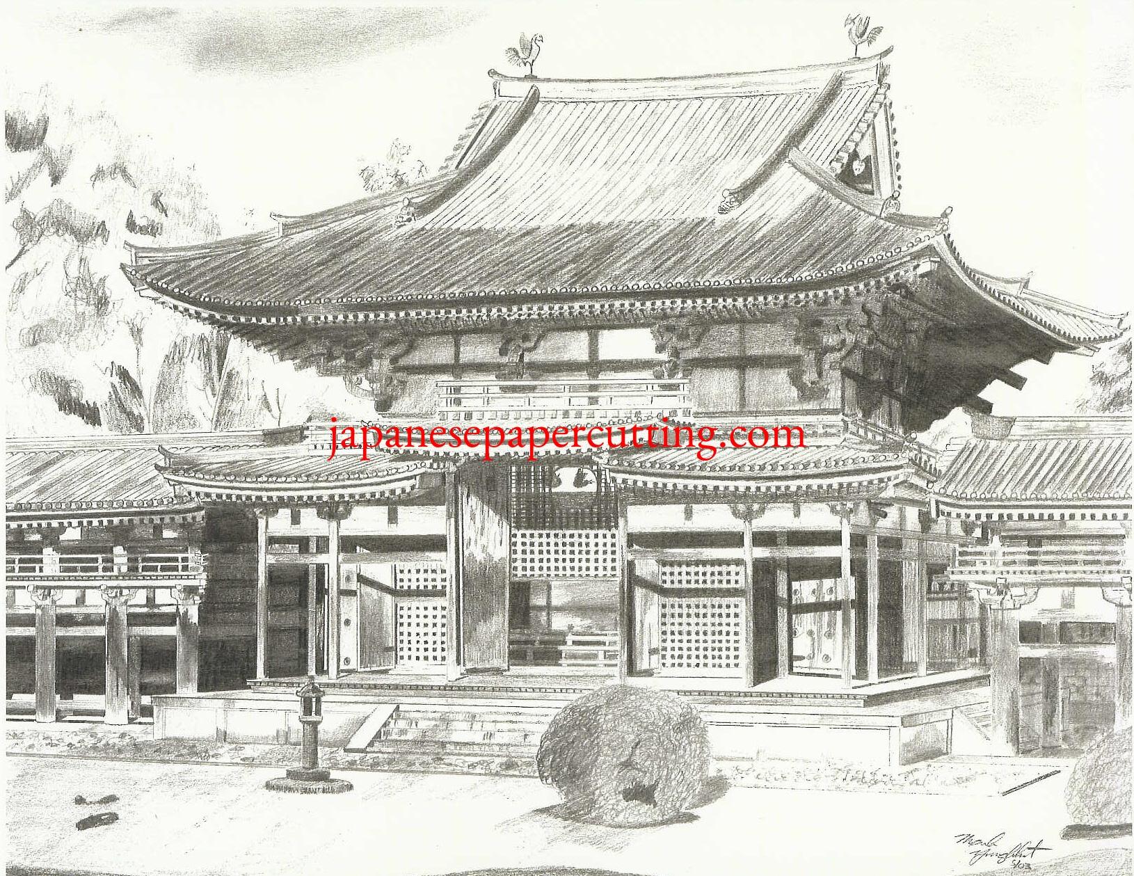 Byoodooin I   Uji, Kyoto, Japan   Pencil   2003