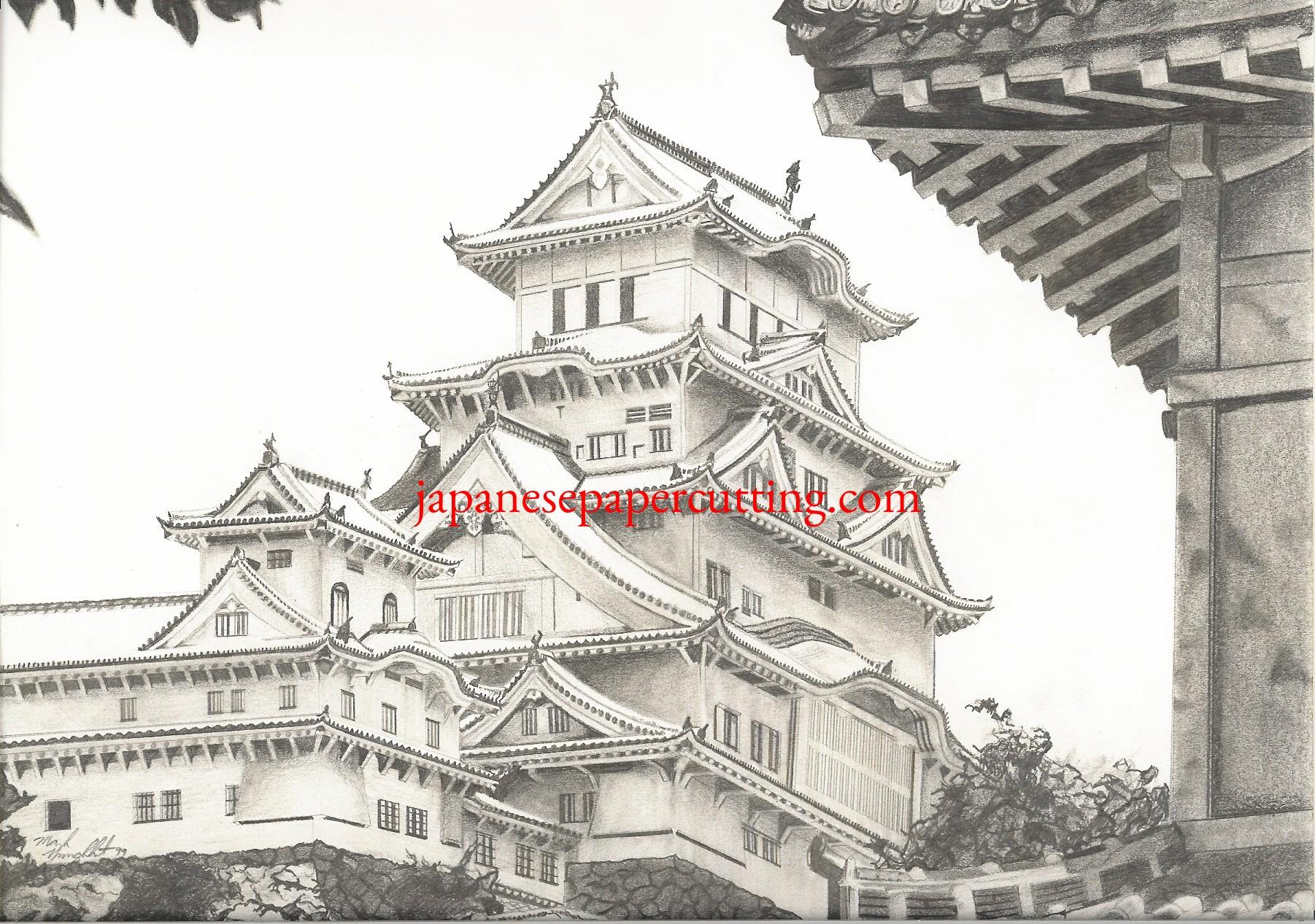 Himeji Castle   Himeji, Hyogo, Japan   Pencil   1999