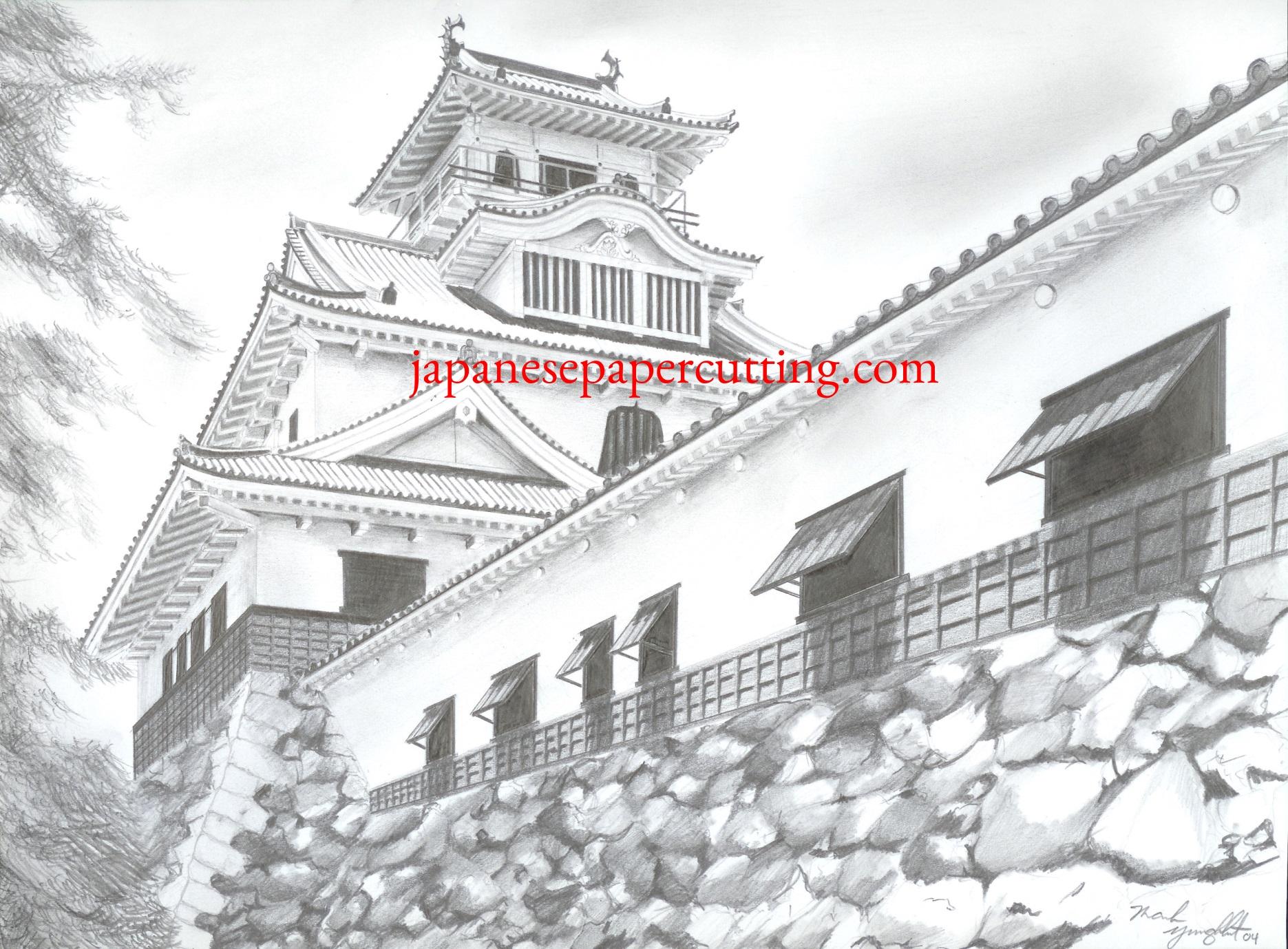 Nagahama Castle   Nagahama, Shiga, Japan   Pencil   2004
