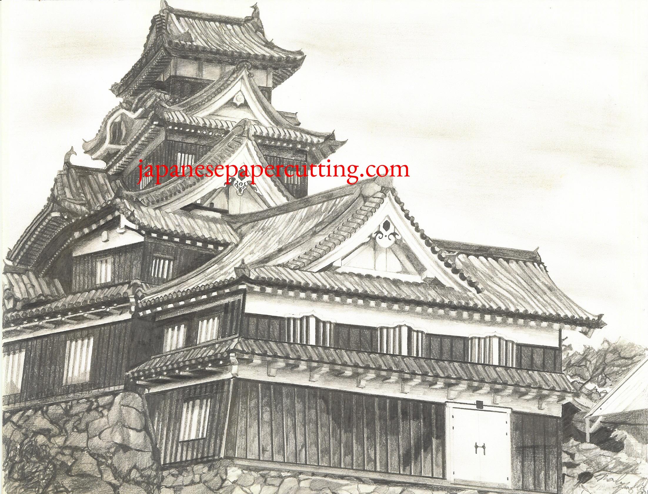 Okayama Castle   Okayama, Okayama, Japan   Pencil   2000