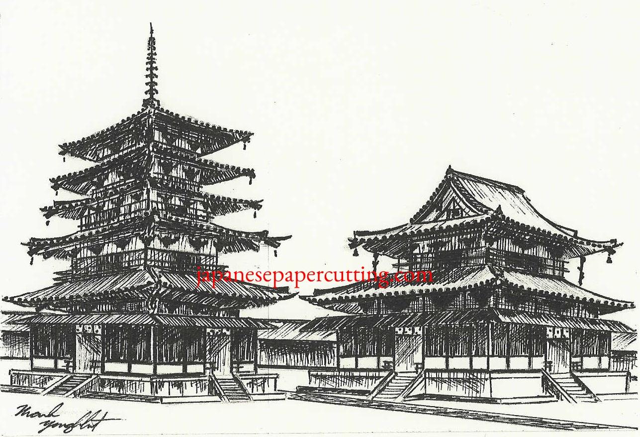 Horyuji II   Ikaruga, Nara, Japan   Ink   2003