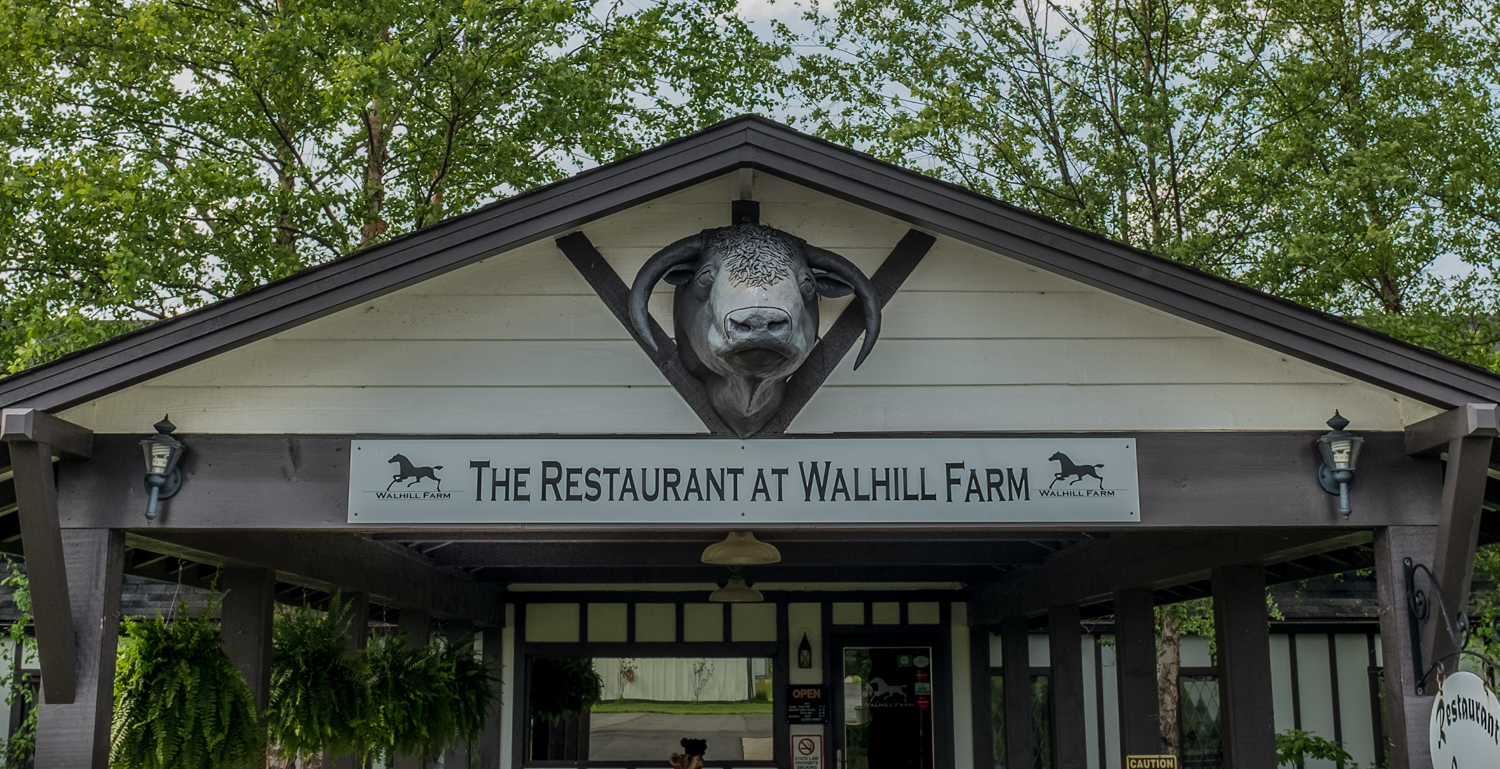 Walhill Farm Restaurant entrance.  Batesville, IN