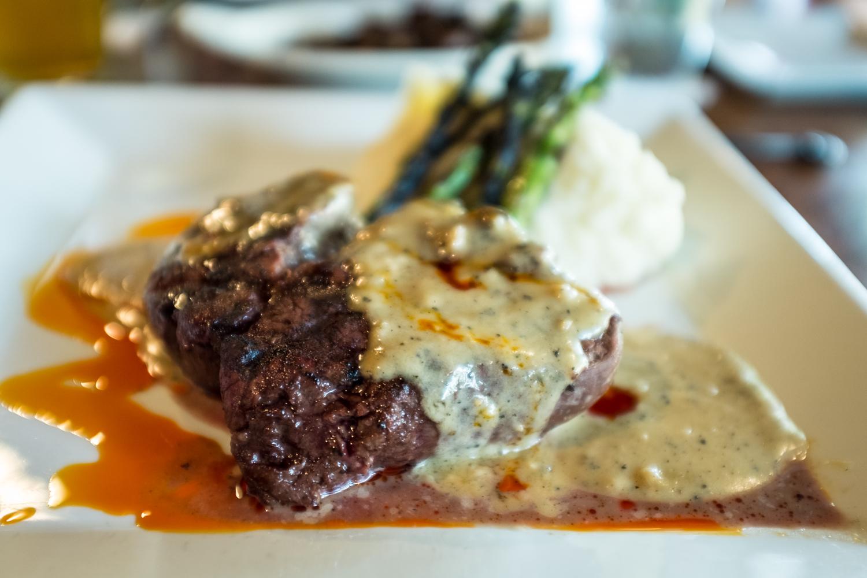 Filet Mignon at Walhill Farm Restaurant, Batesville, IN