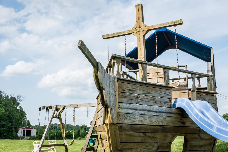 Playground for the Inn at Walhill Farm