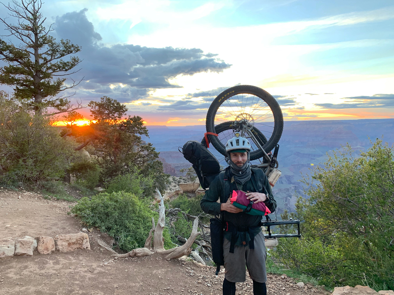 The AZTR requires your bike to be portaged through the section of the Grand Canyon.