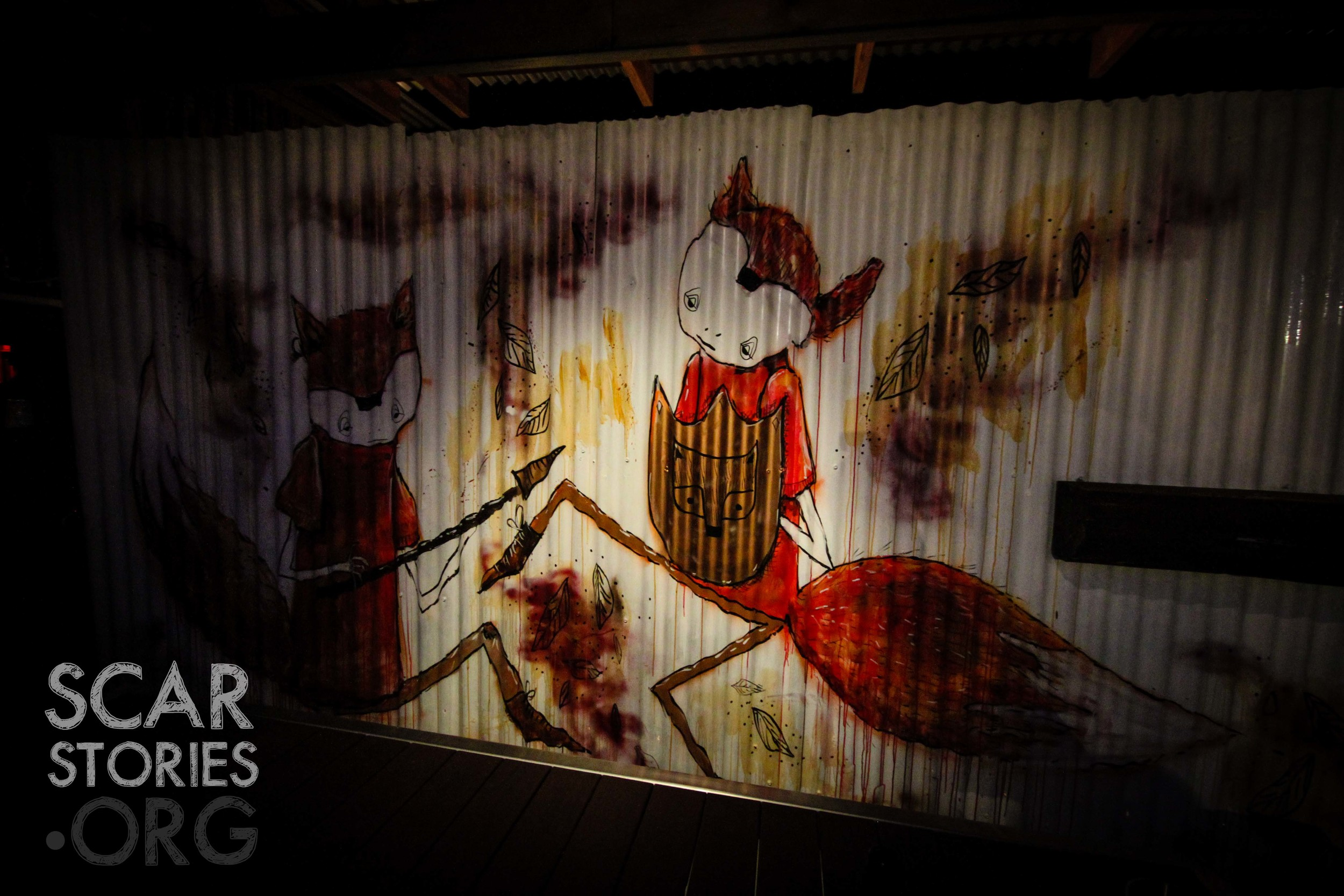 The live art by  Barek  was really something special.  Foxy Bean  now features a permanent Barek piece. Go check it out!