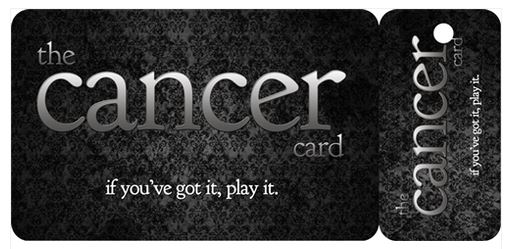 You can buy these awesome 'cancer cards' from the  stupidcancer.org . We  love  the Stupid Cancer org.
