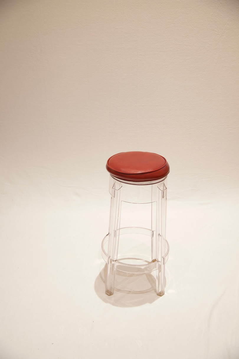 EVERY PHOTO SHOOT STARTS WITH THE LUCITE STOOL