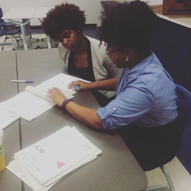STEM scholars are reviewing their diagnostic ACT scores to motivate them to study hard during our intercession #motivation #dedication #2016stemsummerinstitute #ACTprep #collegebound