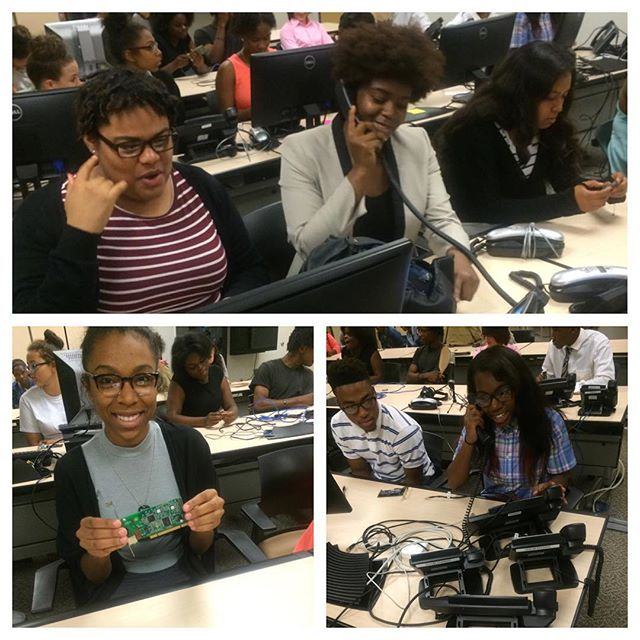 Our scholars are learning about the innovative electrical and software engineering done at Digium, Inc., where they build phones and phone systems #2016stemsummerinstitute #STEM