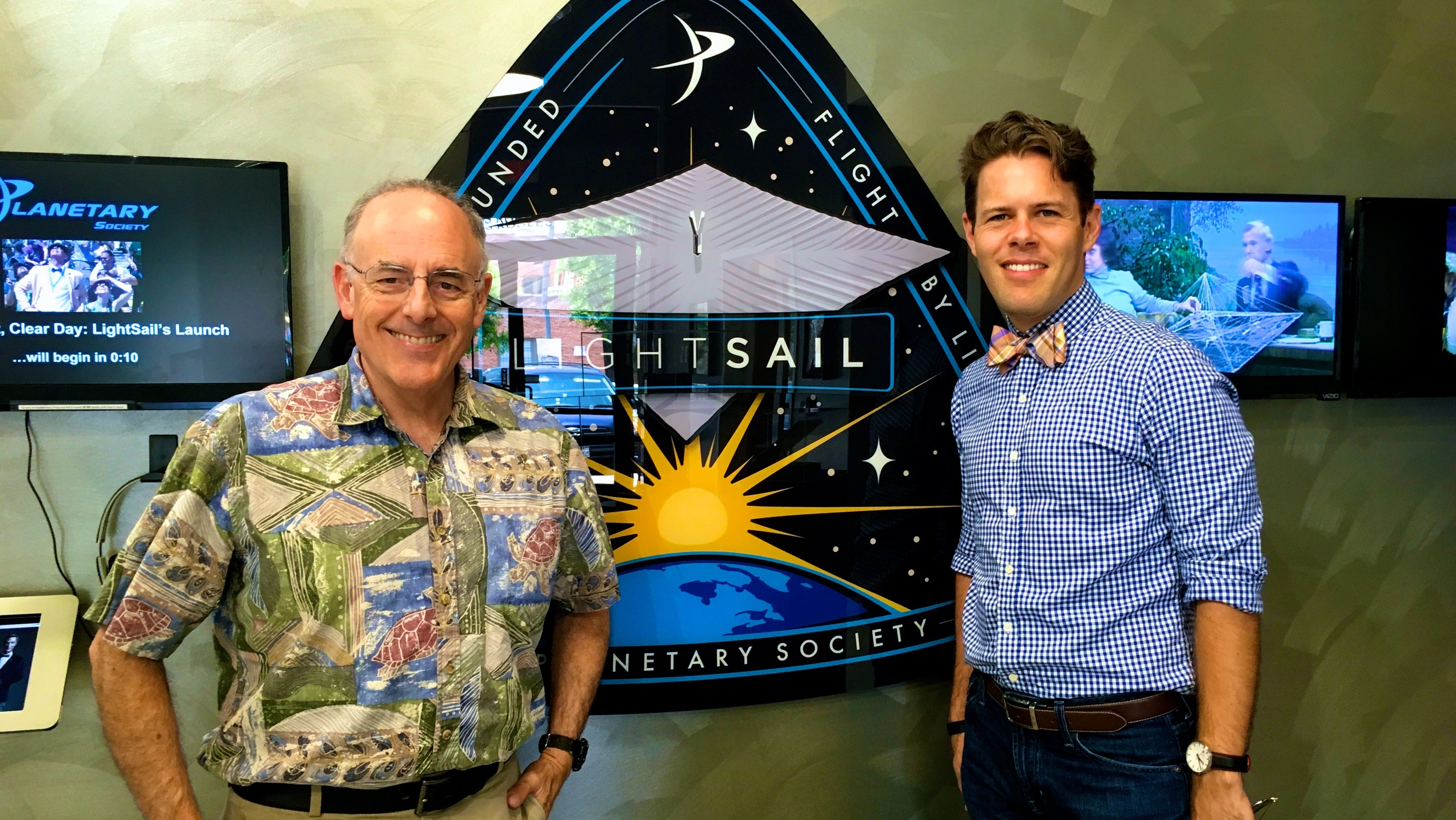 With Mat Kaplan, host of Planetary Radio at the Planetary Society in Pasadena, CA.