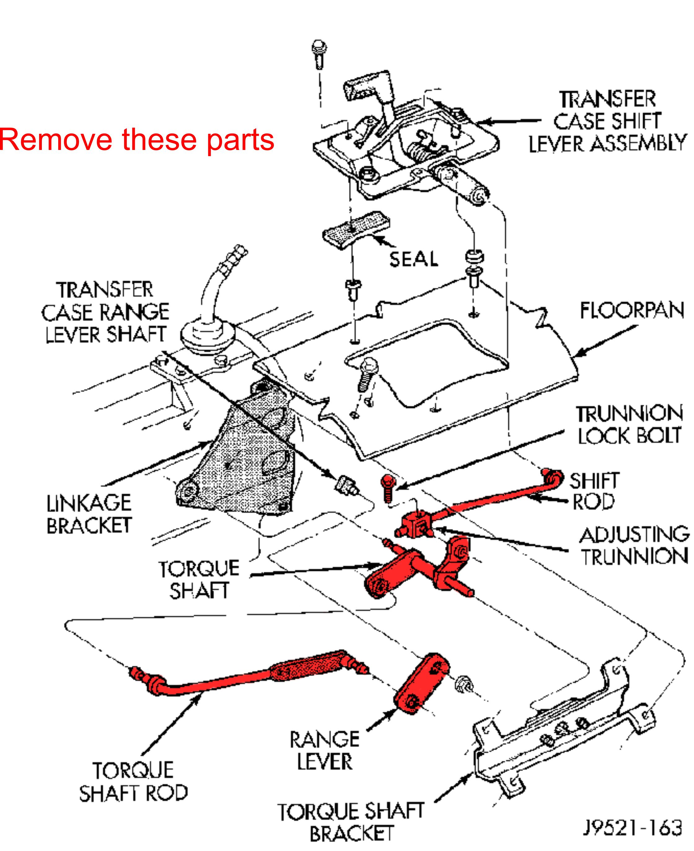 Jeep Cherokee XJ transfer case linkage kit — Azzy's Design Works