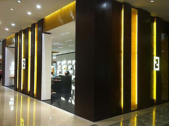Fendi Palacio De Hierro Monterrey completed in 2013 with Fendi Store Planning @ Design Republic