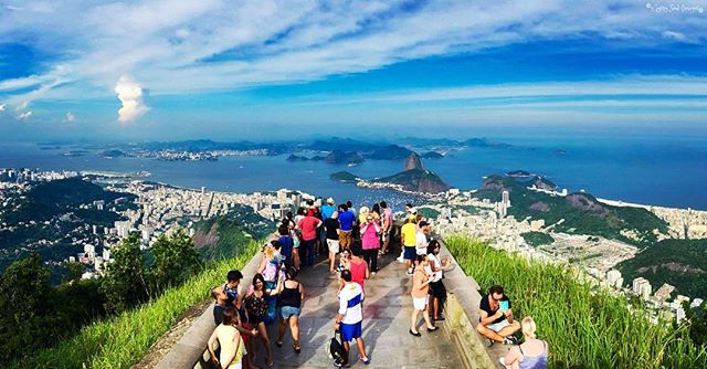 Rio Panorama - Rio de Janeiro, Brazil  The view over Rio from Christ the Redeemer statue is another spectacular panorama taken by Justin!  You can see Sugarloaf Mountain (where the previous panorama was taken) off in the distance, giving you some idea on just how high Cristo Redentor stands. 🔝🌟❤️ #gypsysoulimages