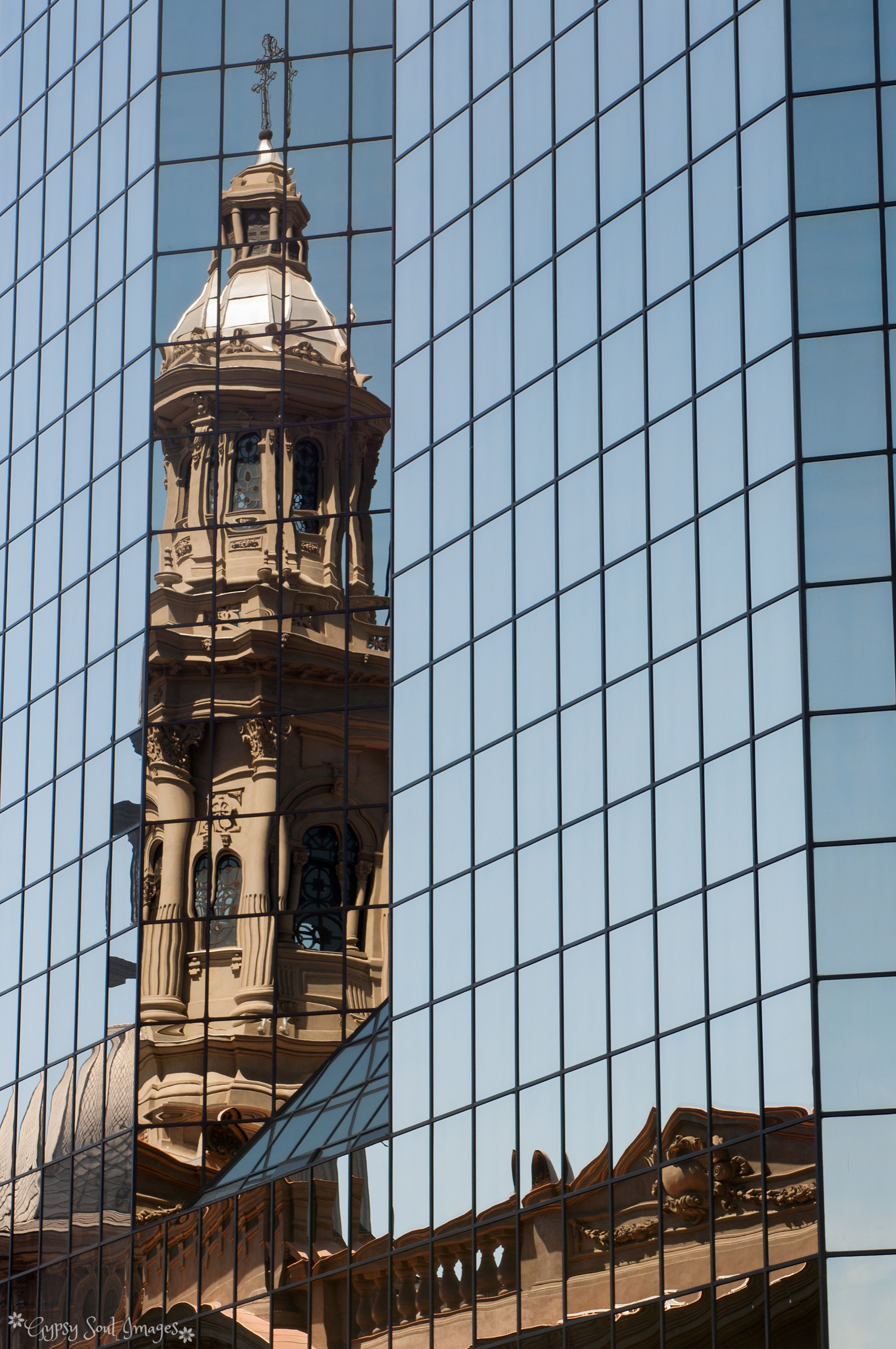 Reflections of Old in New - Santiago, Chile