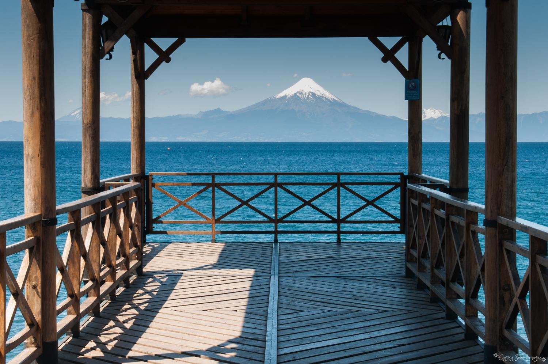 Osorno Volcano from the Jetty - Fruitilla, Chile