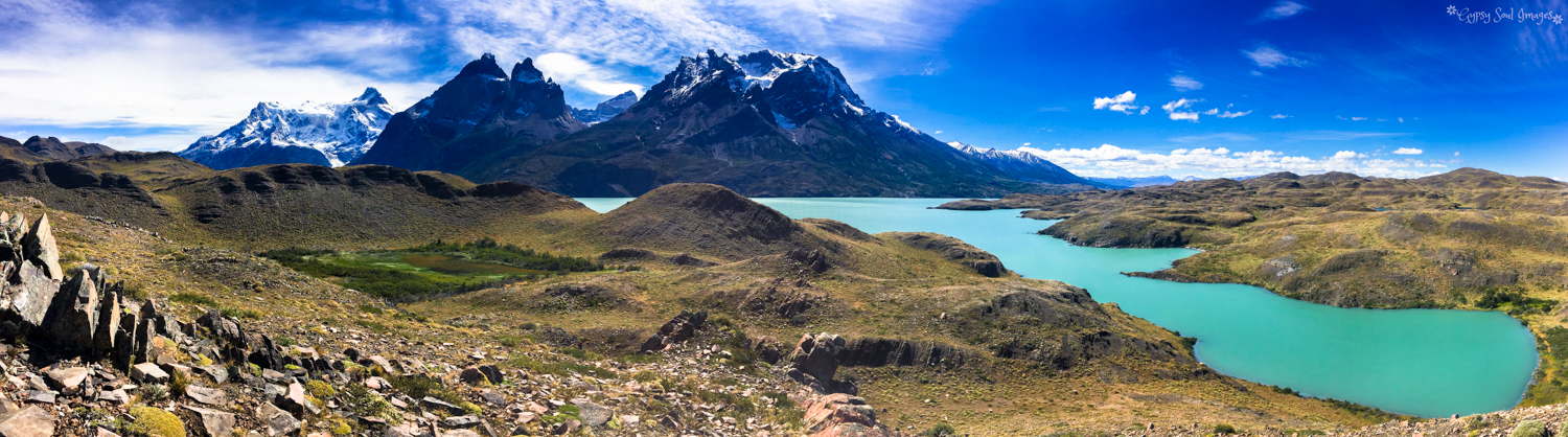 Patagonian Perfection - Torres del Paine National Park, Chile Purchase this image in a variety of products from   Red Bubble .