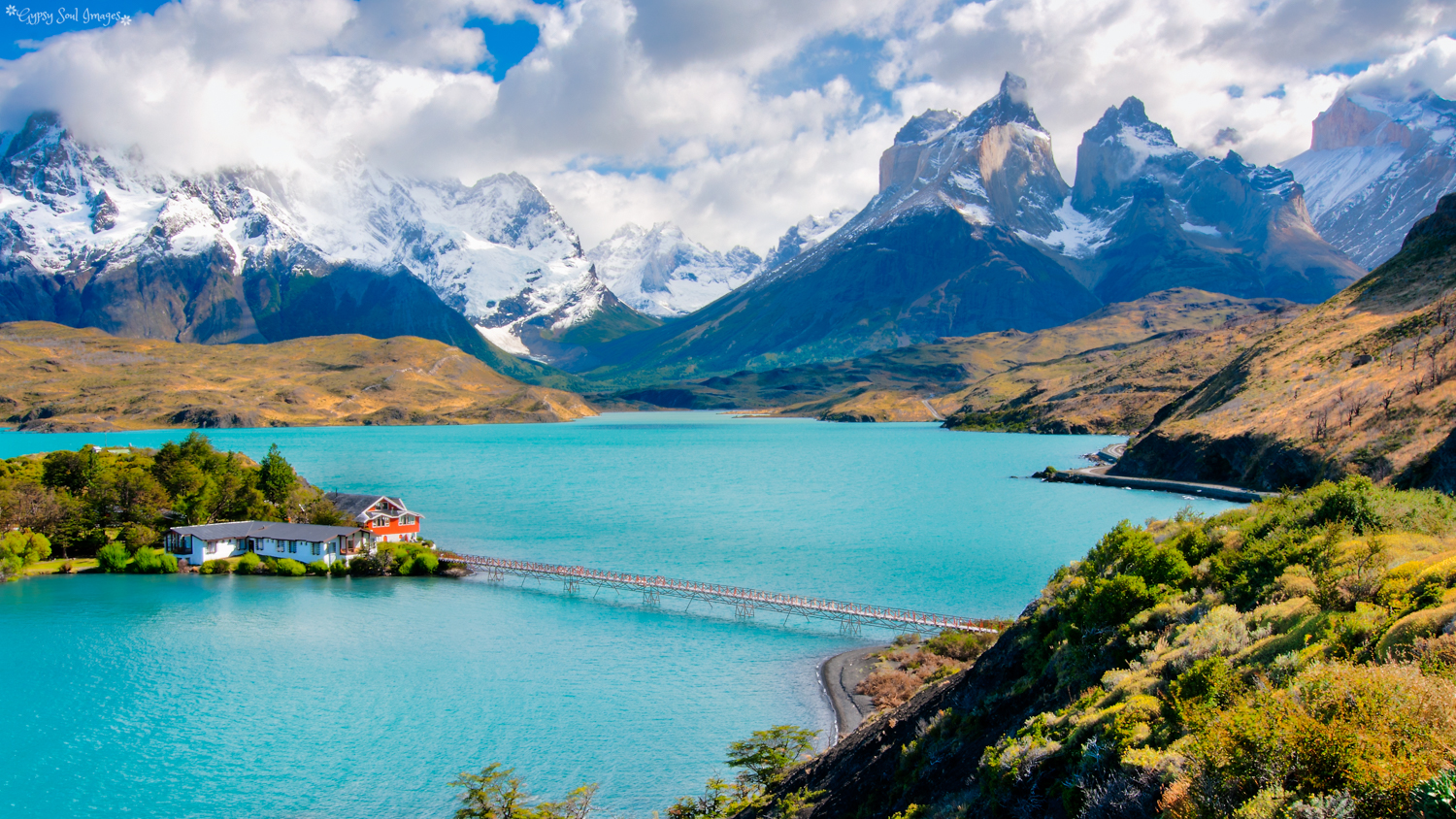 Lake Pehoé - Torres del Paine National Park, Chile Purchase this image in a variety of products from   Red Bubble  .