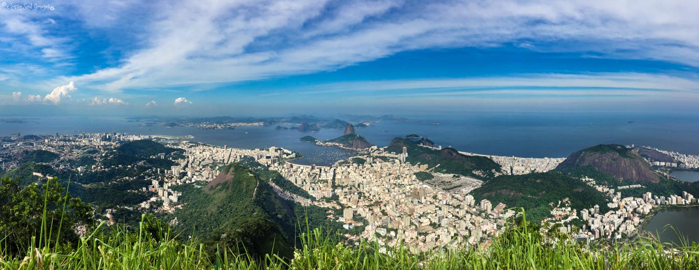 View from Corcovado Mountain - Rio de Janeiro, Brazil