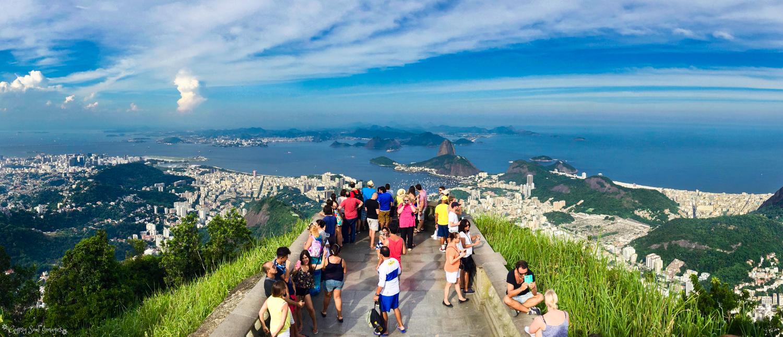 View from Christ the Redeemer Statue - Rio de Janeiro, Brazil