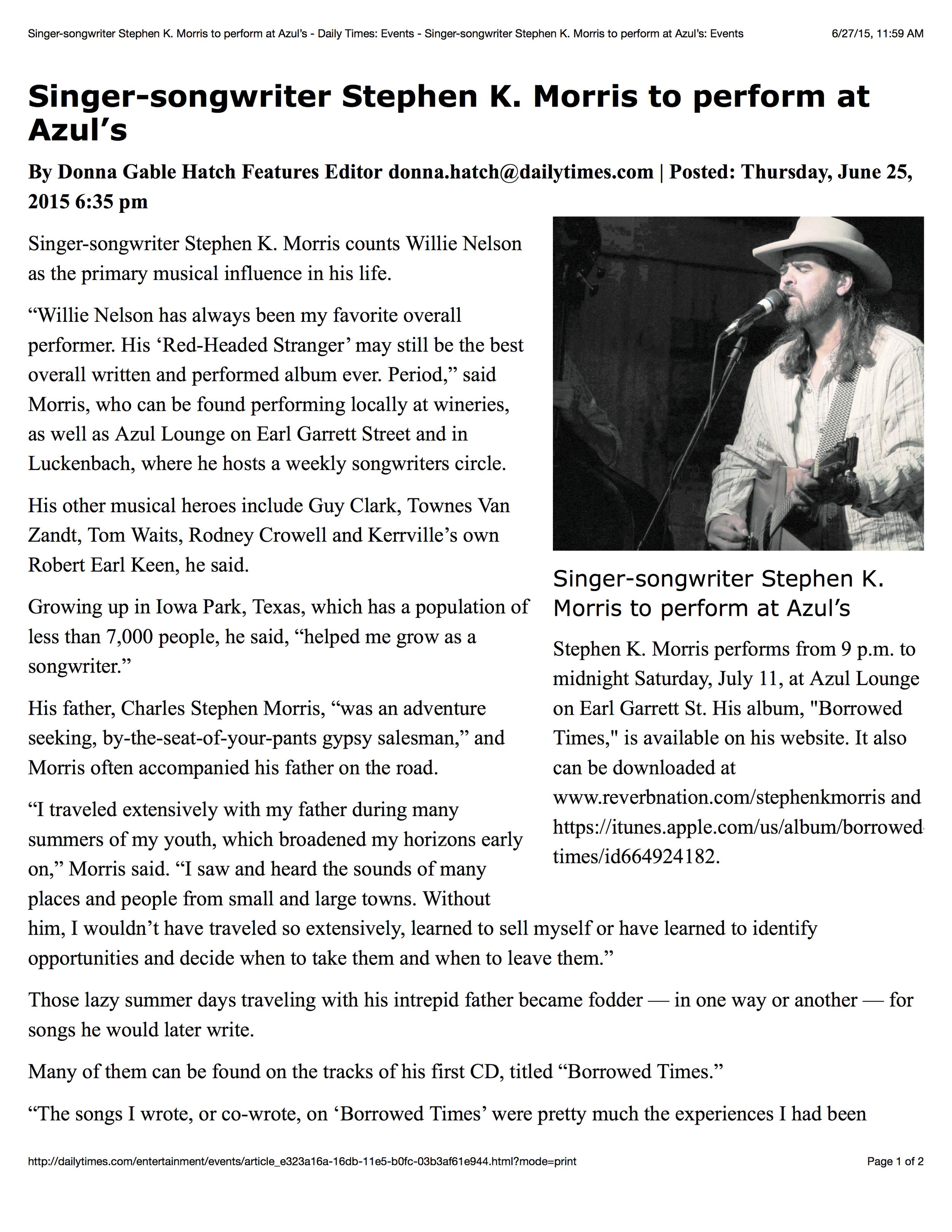 Kerrville Daily Times - Donna Hatch.jpg
