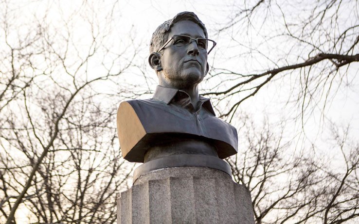 Edward Snowden Busto New York