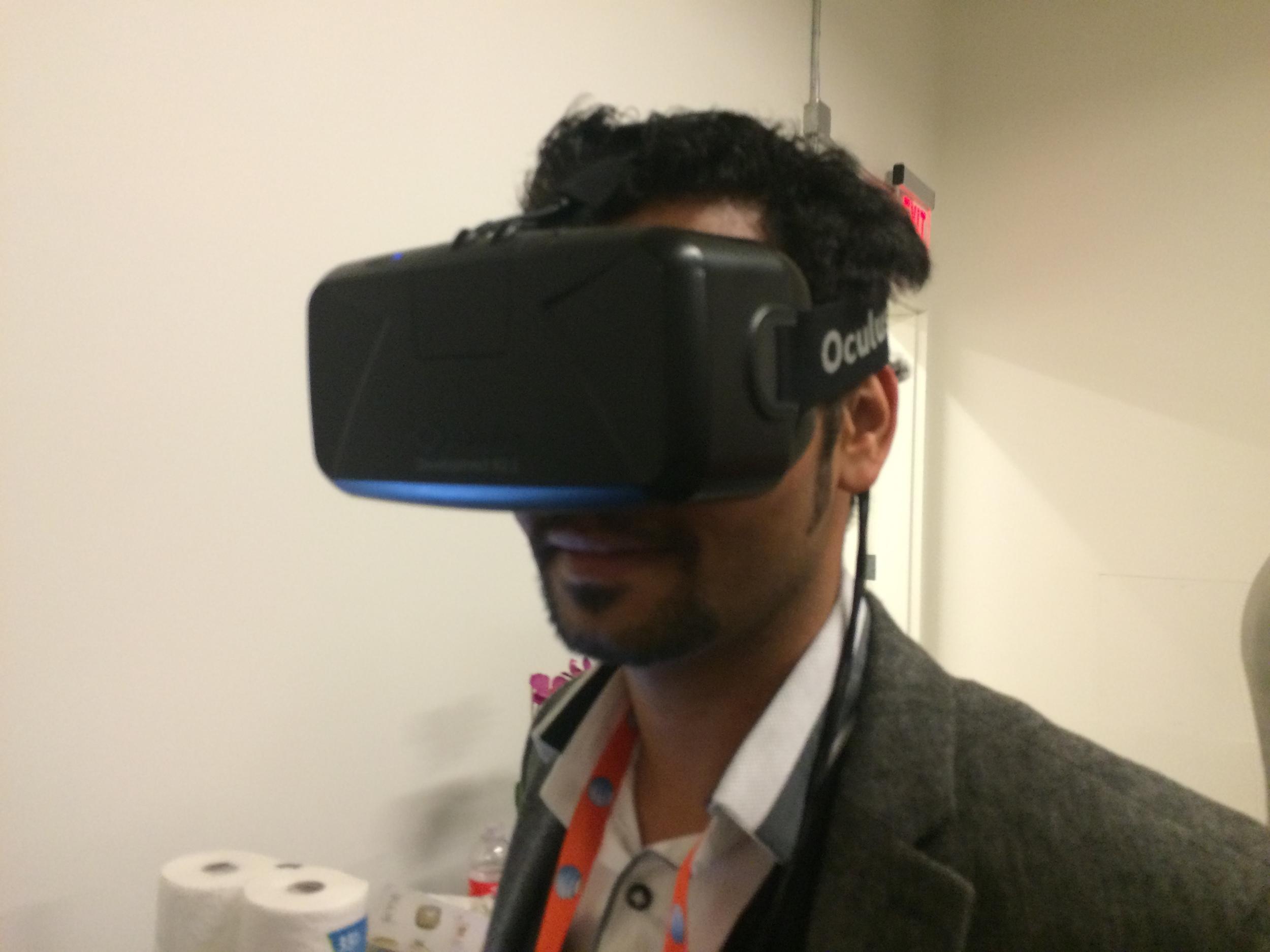Art Shrian in Virtual Reality Helmet