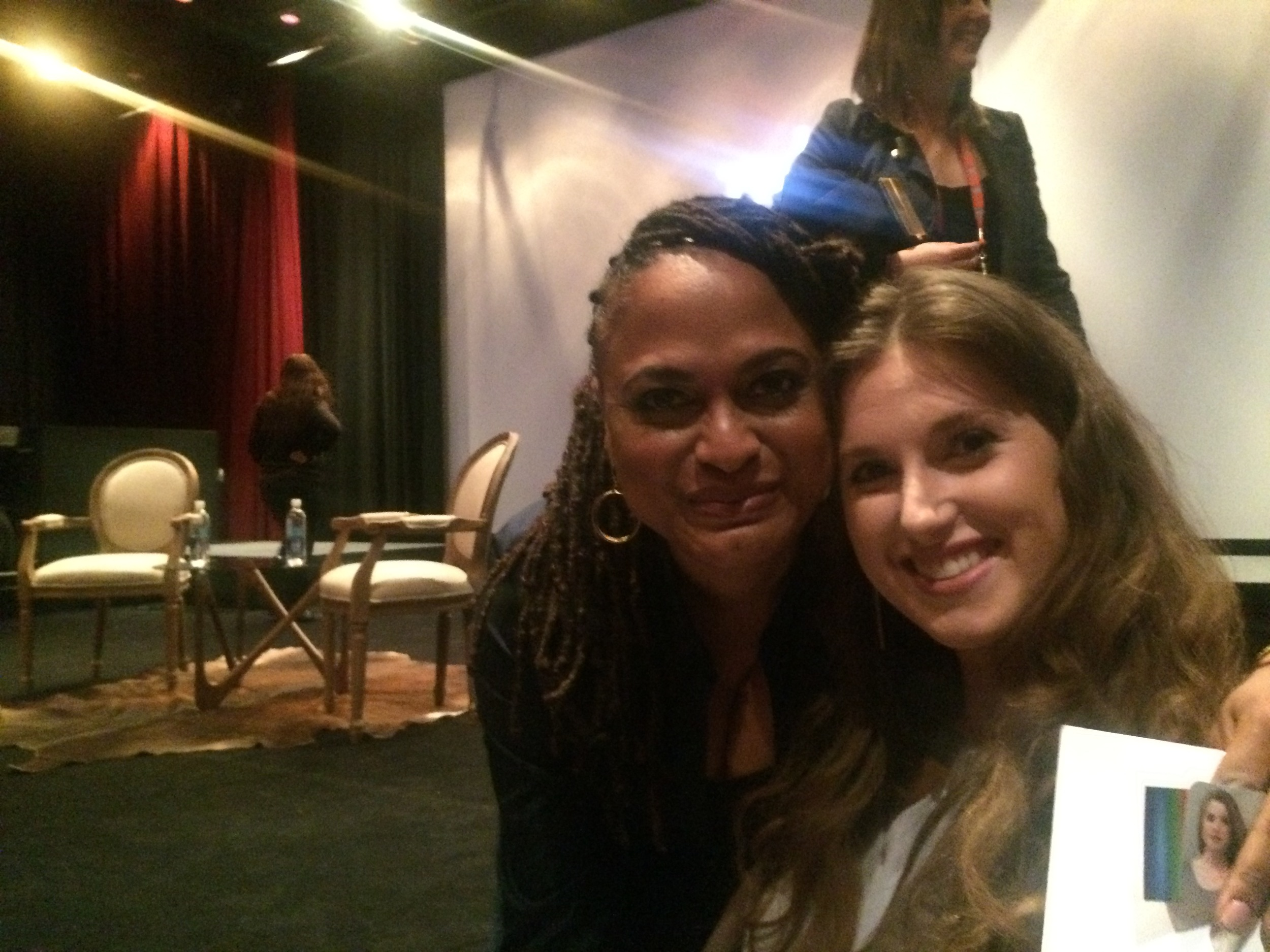 Ava DuVernay  and the myNewYorkeye reporter, Natalie Friedman