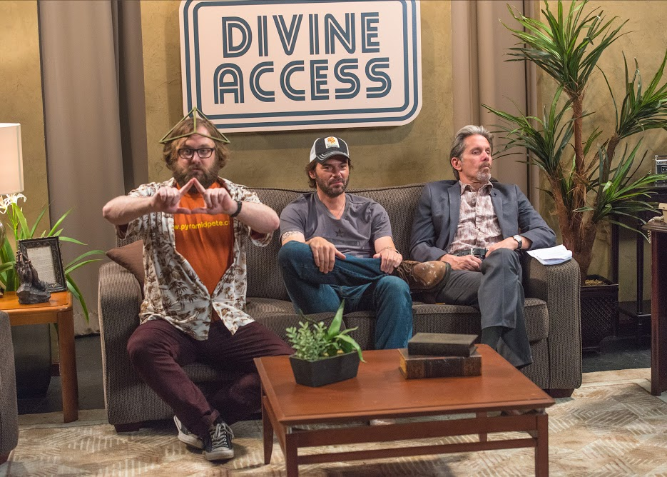 Divine Access Pyramid Pete-Jack-Reverend Guy Roy Davis on Divine Access hosted by BobPhoto Walter, courtesy Portland Film Festival.jpg