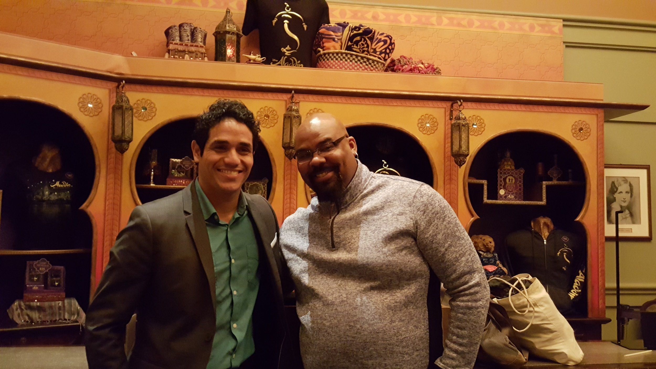 Adam Jacobs, (Aladdin) Tony winner James Monroe Iglehart (Genie) .jpg