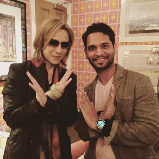 Yoshiki with Art Shrian