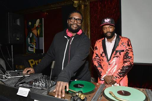 Lawrence Page with Ahmir 'Questlove' Thompson