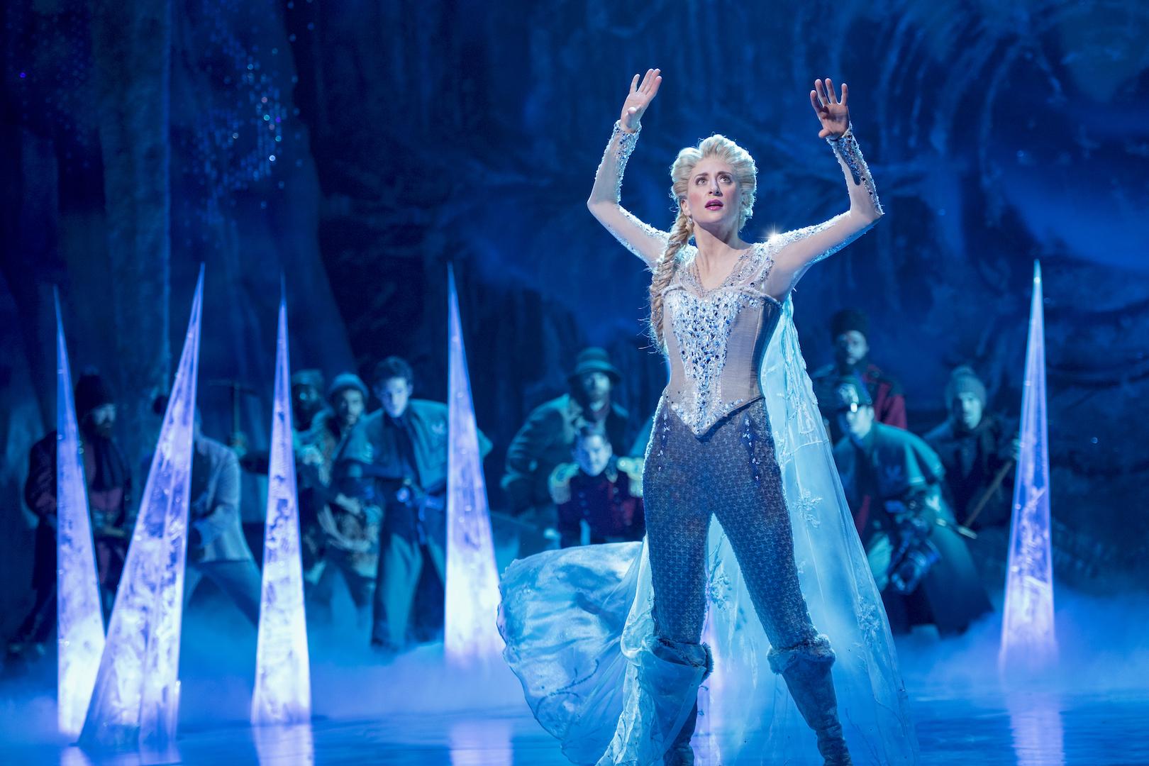Caissie Levy as Elsa in FROZEN on Broadway  Photo by Deen van Meer