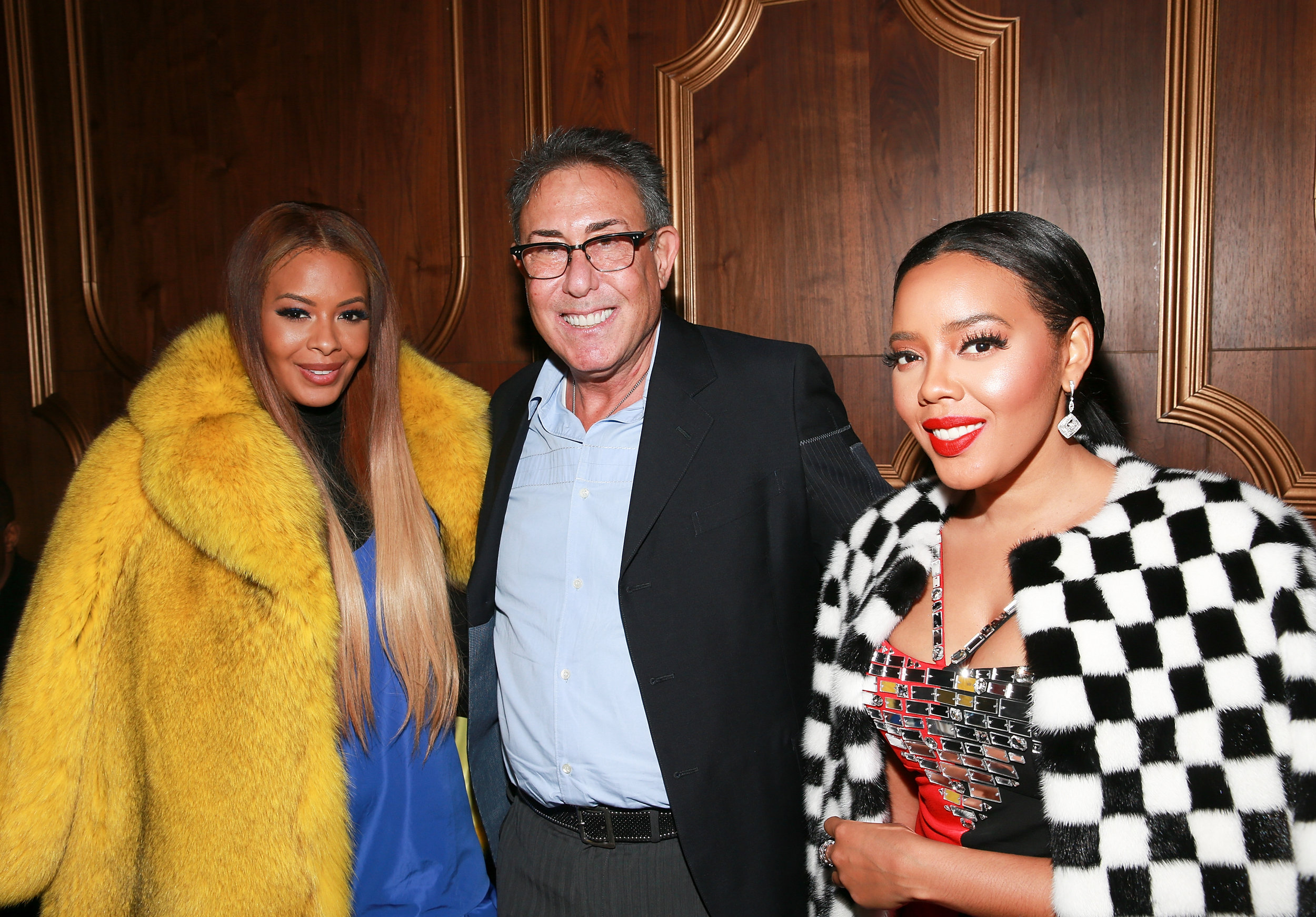 "(L - R) Vanessa Simmons, President and General Manager of WE tv Marc Juris, and Angela Simmons attend the ""Growing Up Hip Hop"" season 4 party on December 4, 2018 at Avenue in New York City. (Photo by Bennett Raglin/Getty Images for WE tv)"