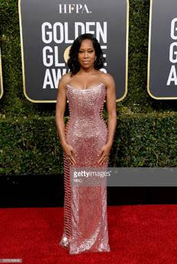 Regina King arrives to the 76th Annual Golden Globe Awards held at the Beverly Hilton Hotel on January 6, 2019  (Photo by Kevork Djansezian/NBC/NBCU Photo Bank via Getty Images)