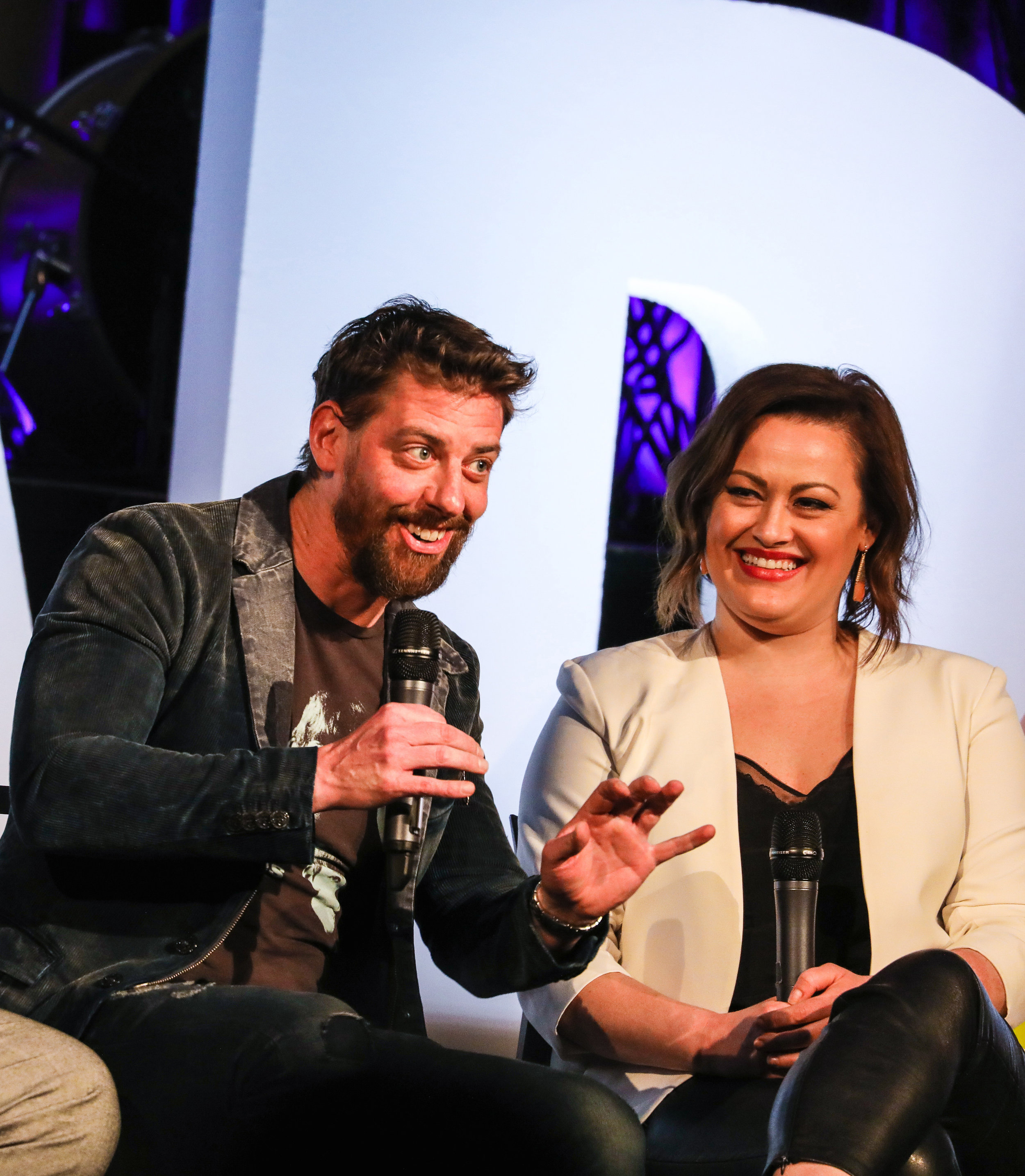 BroadwayCon_Disney_Theatrical_At_25_Christian Borle, and Ashley Brown_HR